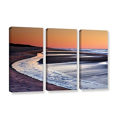 ArtWall Tide Pools At Sunrise by Steve Ainsworth 3 Piece Photographic Print on Wrapped Canvas Set