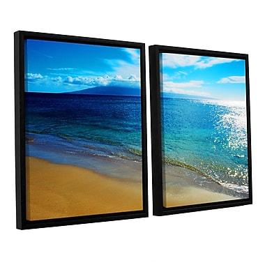 ArtWall Blue Hawaii by Kathy Yates 2 Piece Framed Photographic Print Set; 24'' H x 36'' W x 2'' D