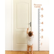 The Decal Guru Giant Ruler Growth Chart Wall Decal; Persimmon
