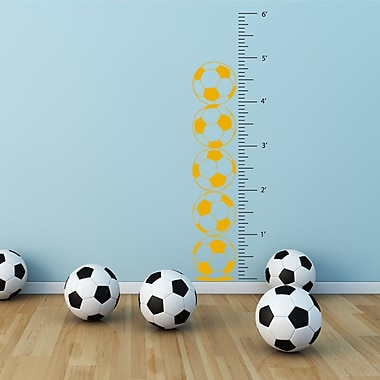 The Decal Guru Soccer Growth Chart Wall Decal; Signal Yellow