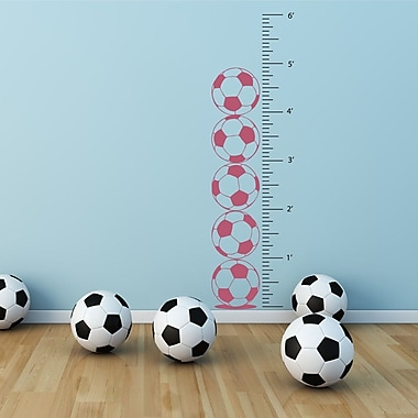 The Decal Guru Soccer Growth Chart Wall Decal; Lipstick
