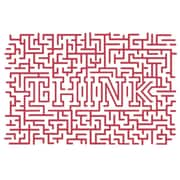 The Decal Guru Think Maze Wall Decal; Dahlia Red