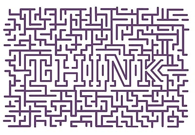 The Decal Guru Think Maze Wall Decal; Violet