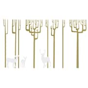 The Decal Guru Winter Trees Wall Decal; Gold/White