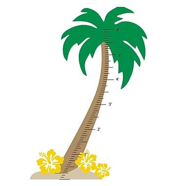 The Decal Guru Palm Tree Growth Chart Wall Decal; Yellow