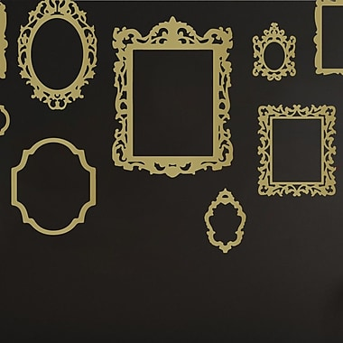 The Decal Guru Antique Picture Frames Wall Decal; Gold