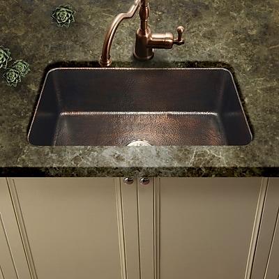 Houzer Hammerwerks 32.38'' x 21.63'' ChaletChef Single Bowl Kitchen Sink