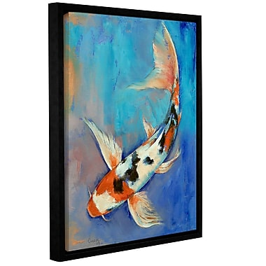 ArtWall Sanke Butterfly Koi by Michael Creese Framed Graphic Art; 14'' H x 18'' W