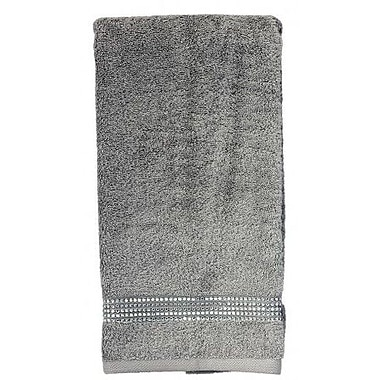 Sparkles Home Rhinestone Stripe Hand Towel; Red