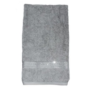 Sparkles Home Rhinestone Stripe Bath Towel; White