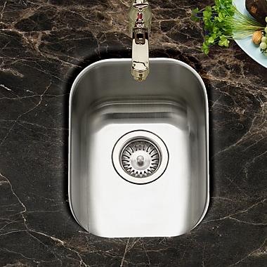 Houzer Club 17.19'' x 13.63'' Undermount Medium Bar Sink