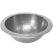 Houzer Hammerwerks Metal Circular Undermount Bathroom Sink w/ Overflow; Pewter