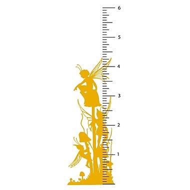 The Decal Guru Fairy Growth Chart Wall Decal; Signal Yellow