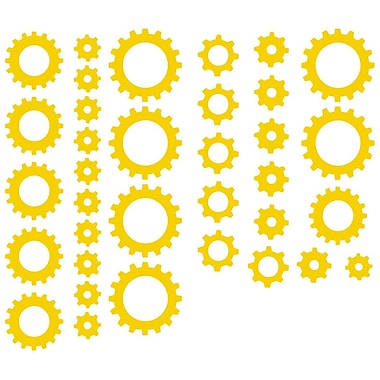 The Decal Guru Clock Gears Wall Decal; Light Yellow