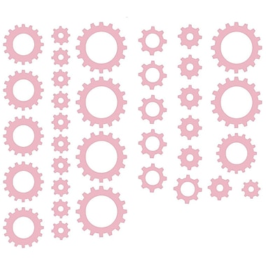 The Decal Guru Clock Gears Wall Decal; Carnation Pink