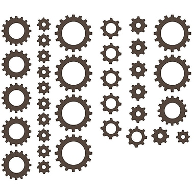 The Decal Guru Clock Gears Wall Decal; Brown