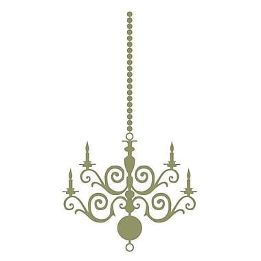 The Decal Guru Chandelier Wall Decal; Olive
