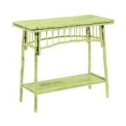 Kenian Coastal Chic Console Table; Antique Daiquiri Green