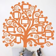 The Decal Guru Family Tree Pictures Wall Decal; Persimmon