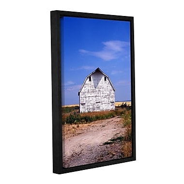 ArtWall Old White Barn by Kathy Yates Framed Photographic Print; 32'' H x 48'' W