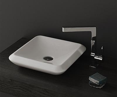 CeraStyle by Nameeks More Ceramic Square Vessel Bathroom Sink w/ Overflow