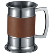 Visol Products Leather Wrapped 18 Oz. Beer Glass