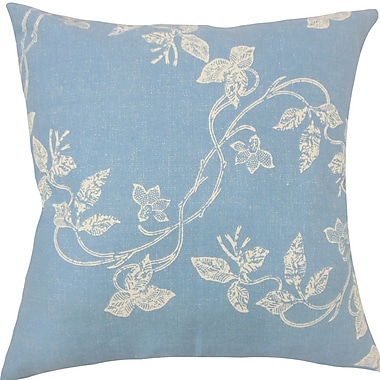 The Pillow Collection Yoland Floral Throw Pillow; 18'' H x 18'' W x 5'' D