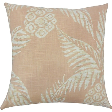 The Pillow Collection Ziraili Floral Throw Pillow; 18'' H x 18'' W x 5'' D