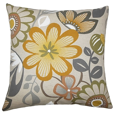 The Pillow Collection Elea Floral Throw Pillow; 18'' H x 18'' W x 5'' D