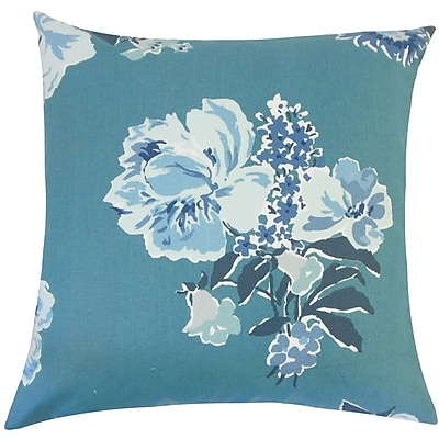 The Pillow Collection Ranya Floral Cotton Throw Pillow; 18'' H x 18'' W x 5'' D