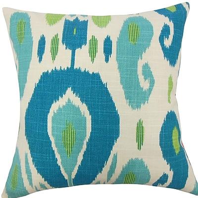 The Pillow Collection Xena Ikat Throw Pillow; 20'' H x 20'' W x 5'' D