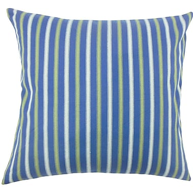 The Pillow Collection Bardia Striped Cotton Throw Pillow; 18'' H x 18'' W x 5'' D