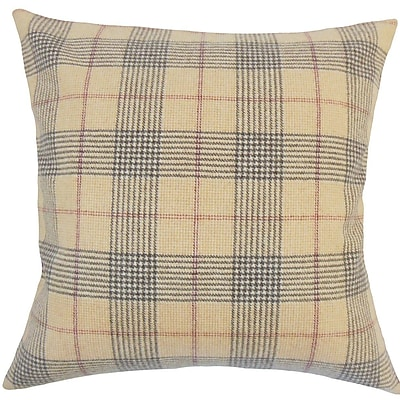 The Pillow Collection Everly Plaid Wool Throw Pillow; 18'' H x 18'' W x 5'' D
