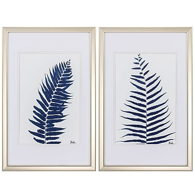 Propac Images Ferns 2 Piece Framed Painting Print Set