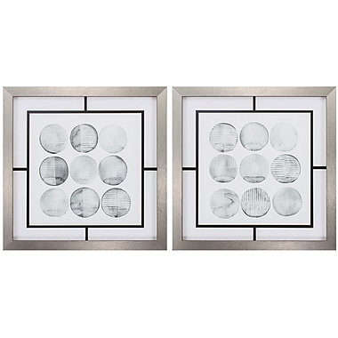 Propac Images Soft Circles 2 Piece Framed Graphic Art Set