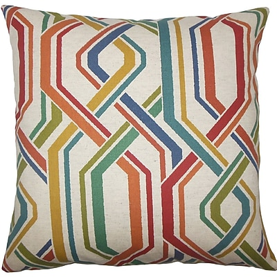 The Pillow Collection Theta Geometric Cotton Throw Pillow; 20'' H x 20'' W x 5'' D