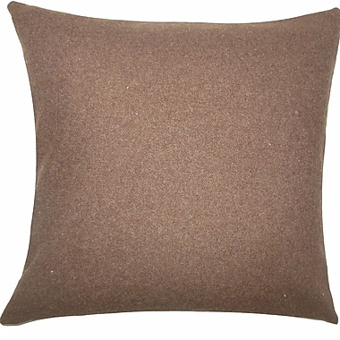 The Pillow Collection Wavery Solid Wool Throw Pillow; 18'' H x 18'' W x 5'' D