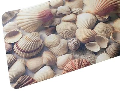 Splash Home Seashells Fabric Printed Bath Mat
