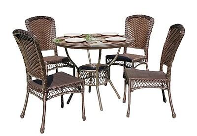 BestDesu Audrey Casual Outdoor 5 Piece Dining Set