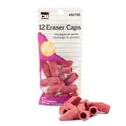 Charles Leonard Wedge Shaped Cap Erasers, Pink, 288/Set (CHL80799)
