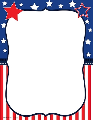 Teacher Created Resources Patriotic Computer Paper, 50 Sheets Per Package (TCR5894)