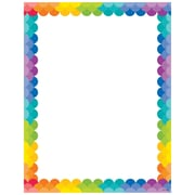 Creative Teaching Press Painted Palette Rainbow Scallops Computer Paper, 50 Sheets Per Package (CTP1987)