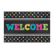 "Teacher Created Resources Chalkboard Brights Welcome Postcards, 4""x6"" 30 Per Pack (TCR5838)"