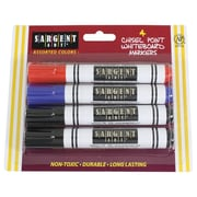 Sargent Art Chisel Point Broad Tip Whiteboard Markers, Assorted Colors, 6 Count of 4 Per Packs Per Order (SAR221562)
