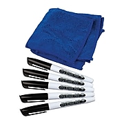 Teacher Created Resources Dry Erase Pens & Microfiber Towels, Black Ink, 5 Pens and Towels Per Set (TCR77268)