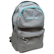 Sargent Art Economy Backpack, Nylon, Grey w/ Teal Zipper  (SAR985022)
