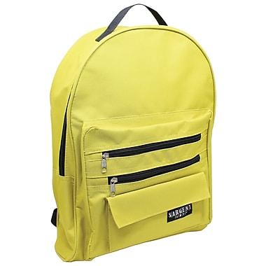 Sargent Art Economy Backpack, Mustard w/ Black Zippers, Nylon (SAR985017)