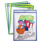 Pacon Dry Erase Pockets, Assorted Colors, Pack of 10 (PACAC9869)