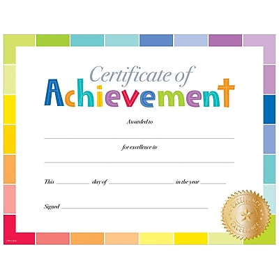 Creative Teaching Press Painted Palette Certificate of Achievement Large Awards 8-1/2