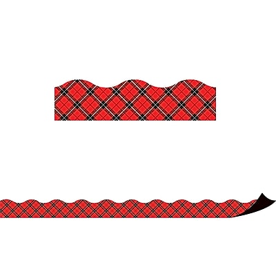 Teacher Created Resources Red Plaid Magnetic Border (TCR77259)